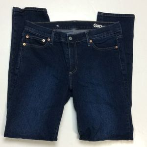 Gap Ladies Dark Cotton Blend Jeans Sz 31 Long
